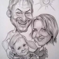 családi karikatúra