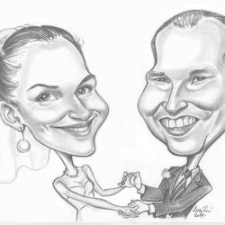 esküvő karikatúra