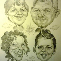 karikatúra családi
