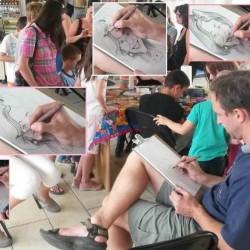 karikatúr élőben
