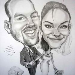 karikatúra esküvő