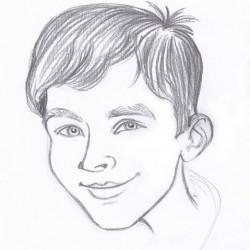 rajzolt portré