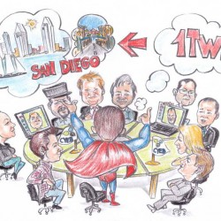 caricature meeting